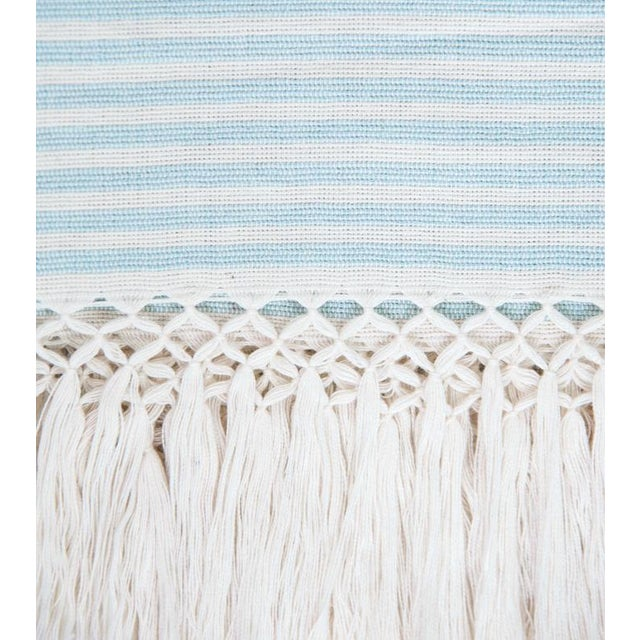 Serenity Blue Handwoven Mexican Throw - Image 3 of 7