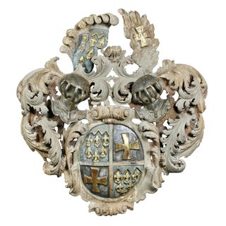 European Painted Coat of Arms For Sale