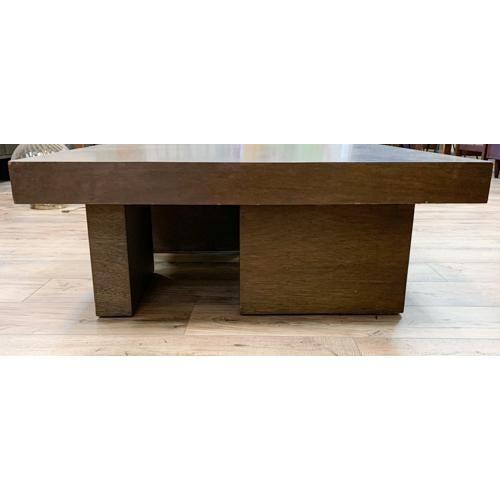 Mid-Century Modern Mid Century Geometric Wood Coffee Table For Sale - Image 3 of 8
