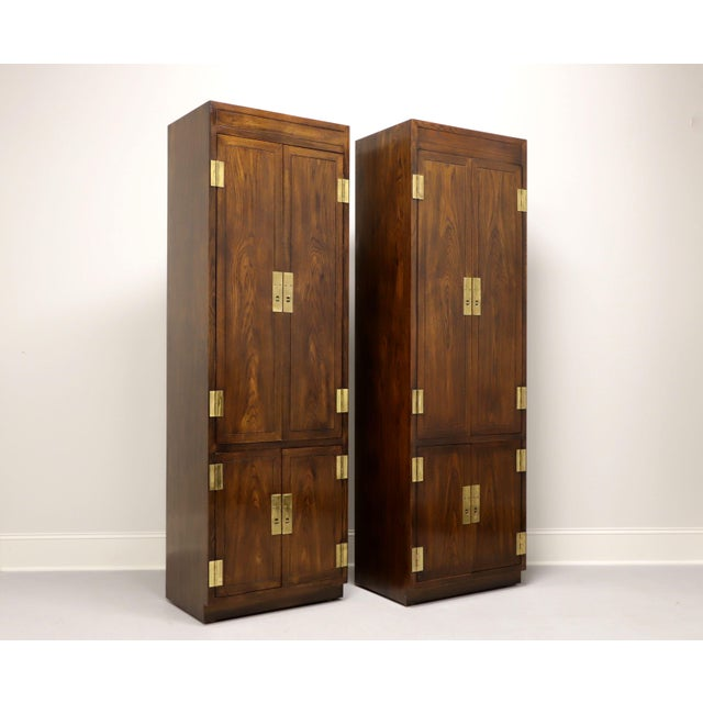 Henredon Scene One Campaign Style Armoire Cabinets - Pair For Sale - Image 13 of 13