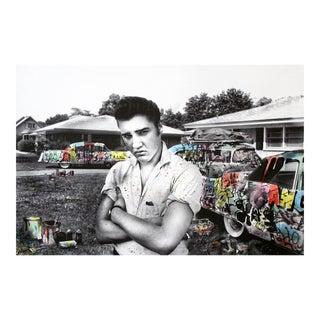 "Mr. Brainwash ""Happy Birthday Elvis, Cadillac King"" Screen Print W/ Watercolor 2019 Edition of 50 *Rare For Sale"