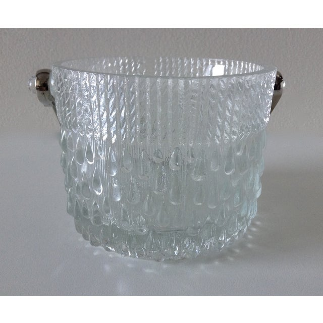 Mid-Century French Glass Teardrop Ice Bucket For Sale - Image 4 of 6