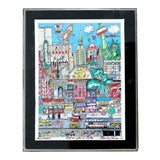 Image of Contemporary Small Nyc 3d Serigraph Signed Charles Fazzino Lucite Framed 160/200 For Sale