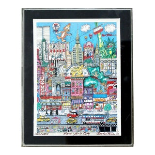 Contemporary Small Nyc 3d Serigraph Signed Charles Fazzino Lucite Framed 160/200 For Sale