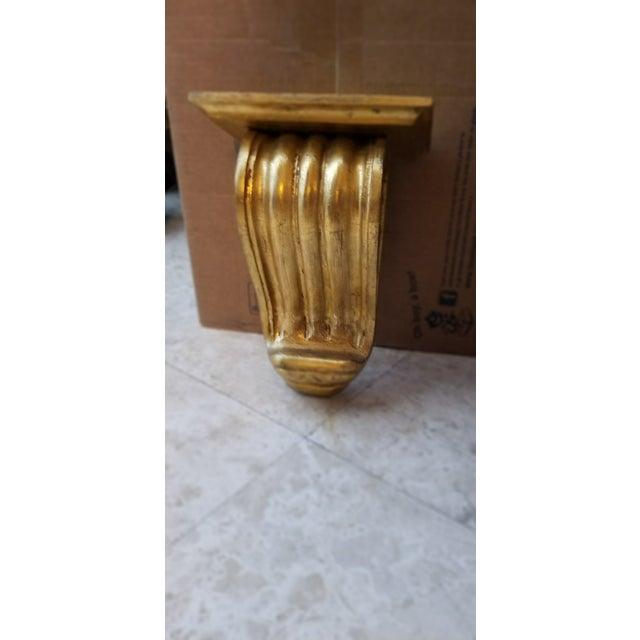 Large Gold Gilt Wall Mounted Corbel Sconce Shelf For Sale - Image 4 of 6