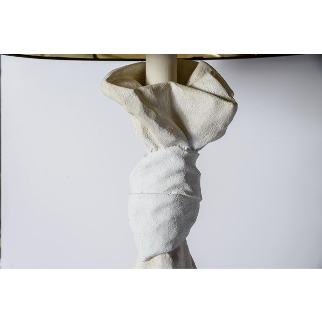 1960s Draped Plaster Lamps After John Dickinson A-Pair For Sale - Image 5 of 11