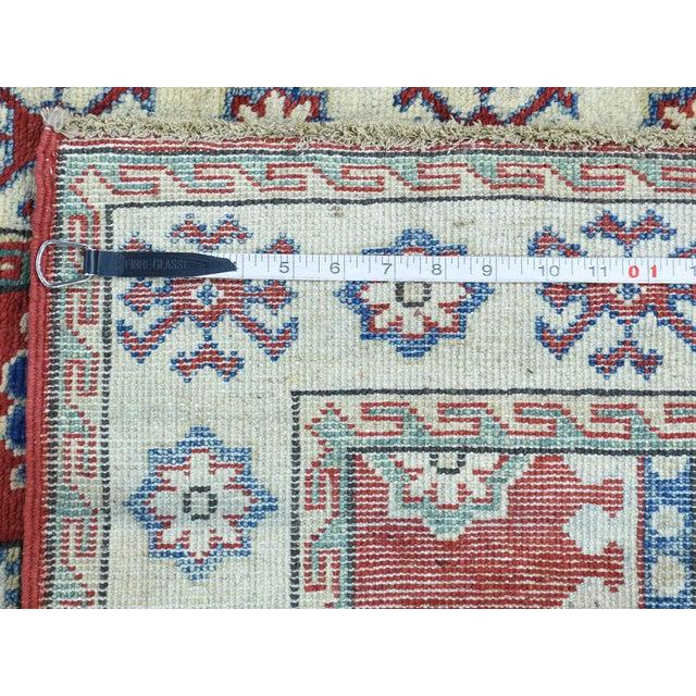Wool Handmade Tribal Design Kazak Runner- 2′8″ × 9′9″ For Sale - Image 10 of 12