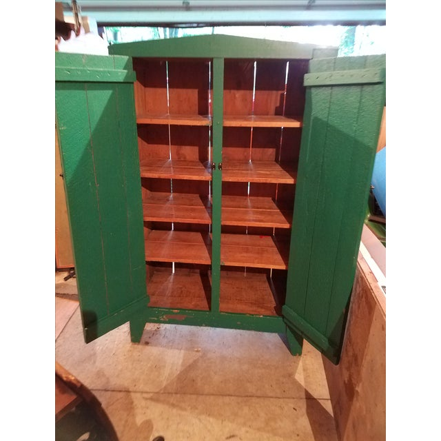 Antique Green Primitive Cupboard - Image 3 of 3