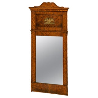 Mid 19th Century American Curly Maple Mirror For Sale