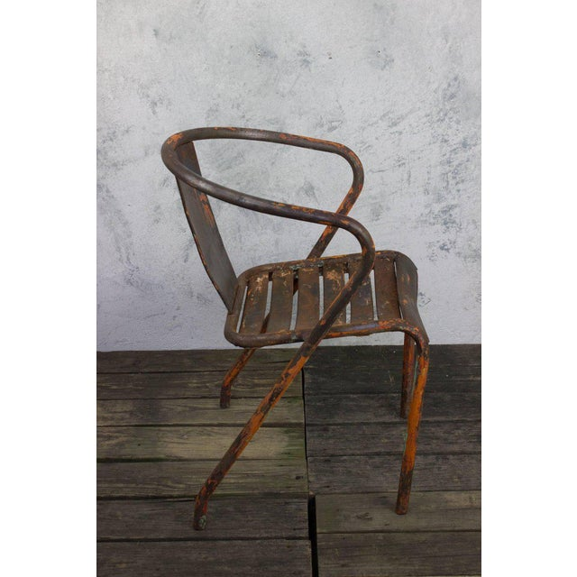 Pair of French Tolix Chairs With Original Paint Finish - Image 6 of 11