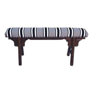 Upholstered Antique Shandong Elm Wood Bench