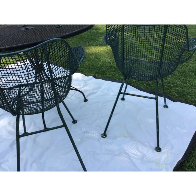 Sculptura Wrought Iron Patio Set - 5 Pieces For Sale In Cleveland - Image 6 of 7