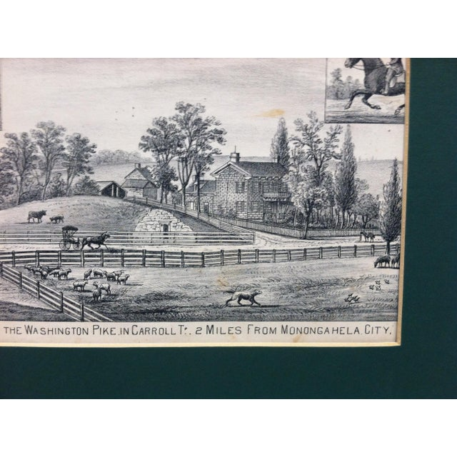 "Vintage Matted Print, ""Residence of Jas. Stockdale"" For Sale - Image 4 of 6"