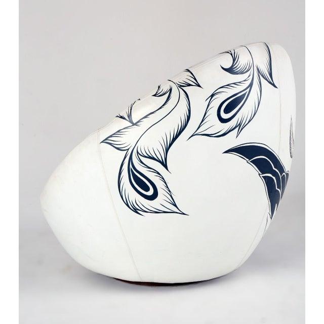 Wood Milo Baughman Thayer Coggin Swivel Egg Chair For Sale - Image 7 of 13