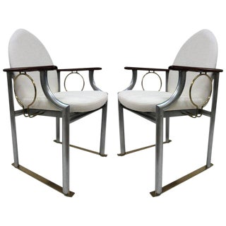 Pair of Memphis Style Armchairs For Sale