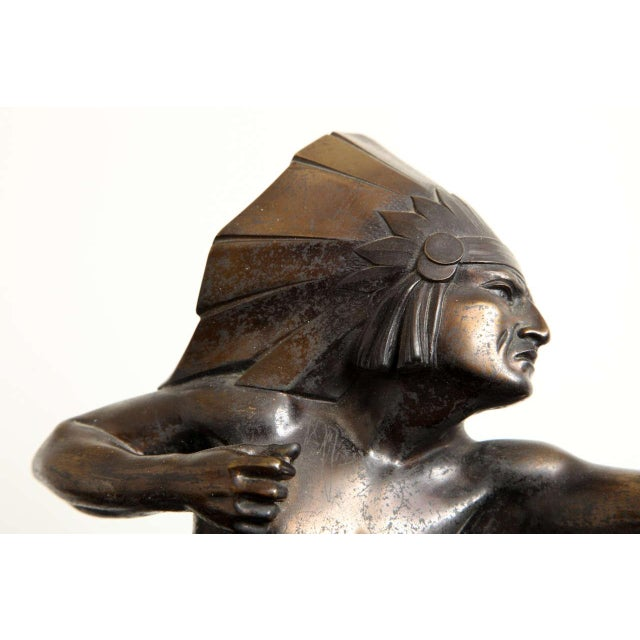 Art Deco French Art Deco Bronze Signed E. Guy For Sale - Image 3 of 10