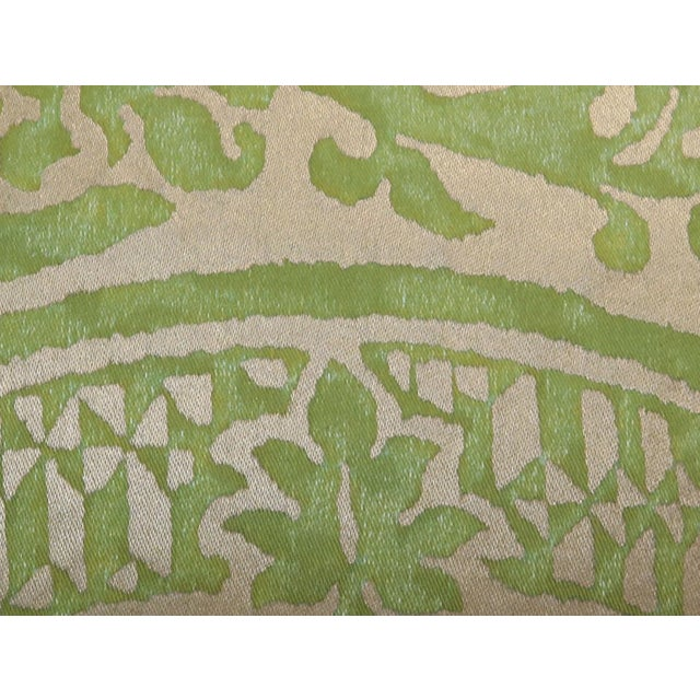 Mariano Fortuny Pair of Green Orsini Fortuny Pillows For Sale - Image 4 of 8