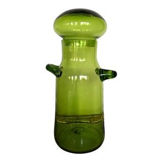 John Nickerson Blenko Lidded Jar Vessel For Sale