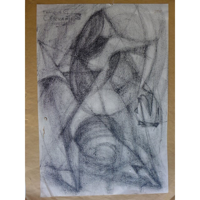 Mexican Abstract (The Figure) Drawing - Image 2 of 4