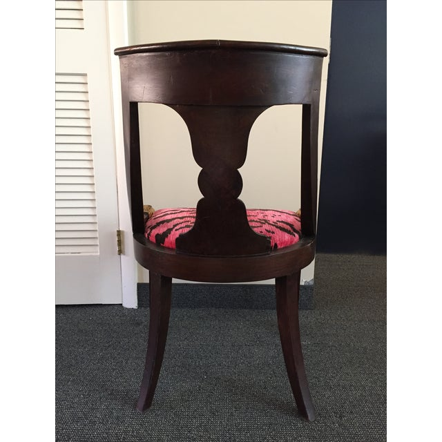 French Empire Chairs in Pink 'Tigre' Fabric - Pair - Image 5 of 8