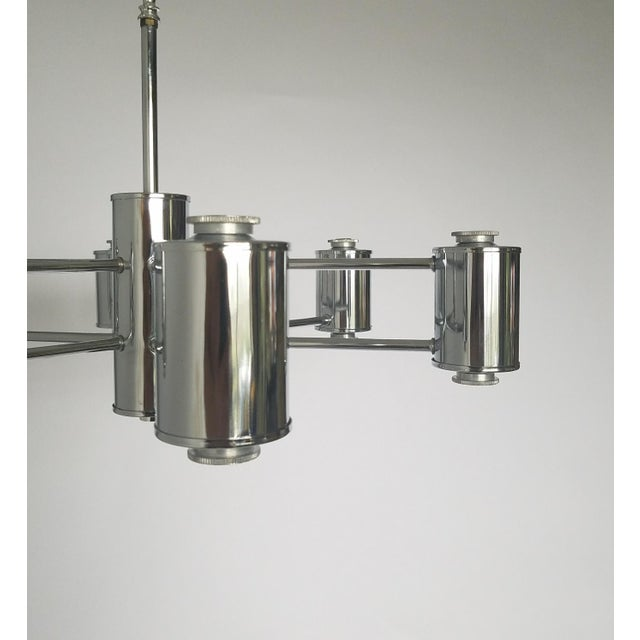 Chrome Mid-Century Modern Sciolaris Chrome Chandelier For Sale - Image 7 of 12
