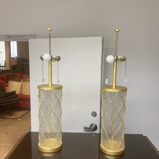 Contemporary Fisher Weisman Montgolfier Grand Table Lamps - a Pair For Sale - Image 3 of 12
