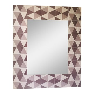 Lavender and Mauve Rectangular Opaline Glass Mirror For Sale