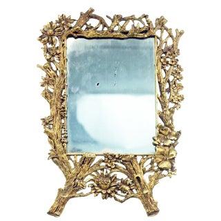 French Aesthetics-Era Bronze Vanity Mirror For Sale