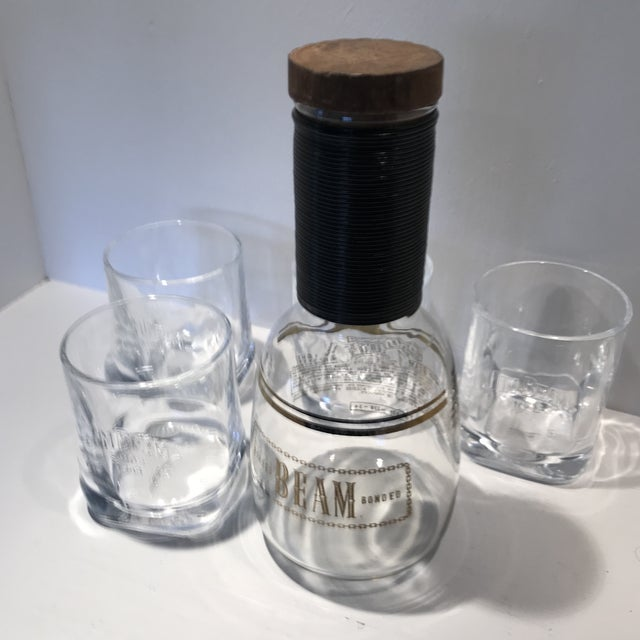 Vintage Jim Beam Decanter With 3 Glasses - Set of 4 For Sale - Image 12 of 13