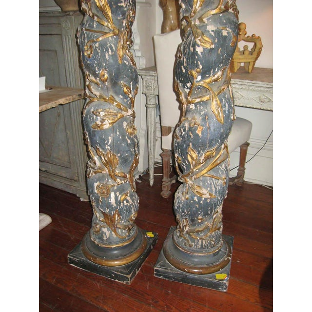 Pair of 17th Century Columns For Sale - Image 11 of 12