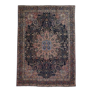 Antique Persian Tabriz Rug with Traditional Style For Sale