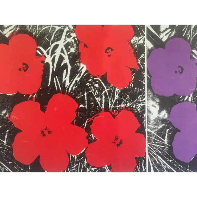 """2010s Andy Warhol Foundation Vintage Pop Art Poster Print """" Flowers """" 1964 / 1967 For Sale - Image 5 of 13"""