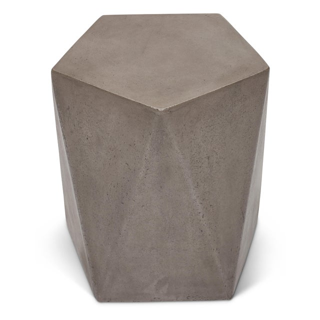 Mid-Century Modern John Stool, Dark Grey For Sale - Image 3 of 7