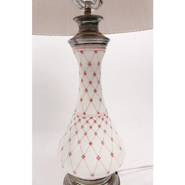 Pink Porcelain Table Lamps - Pair - Image 2 of 6