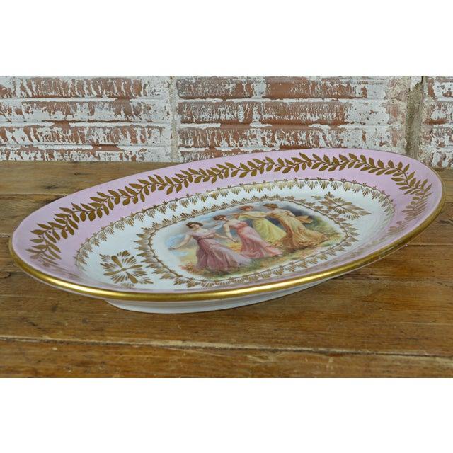 Porcelain Transfer Portrait Platter For Sale - Image 6 of 7