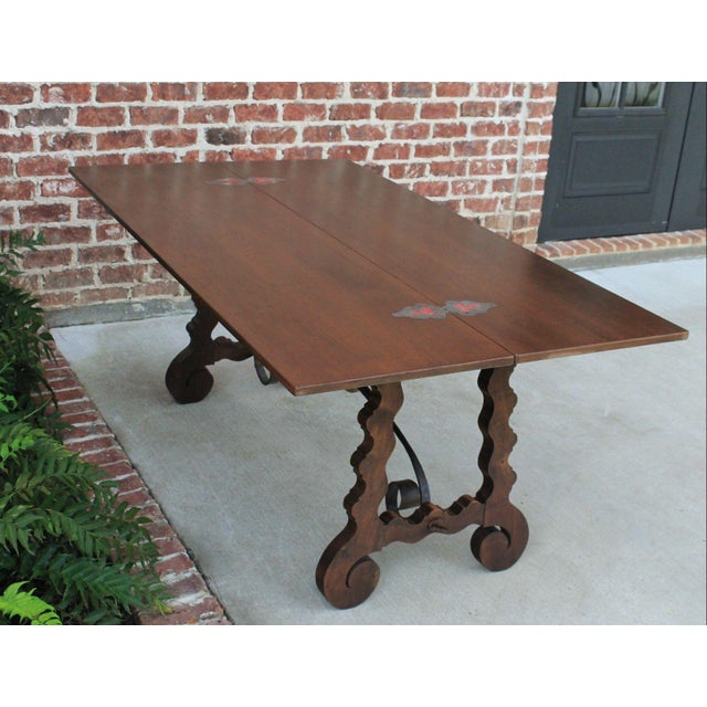 Antique French Spanish Walnut Mission Catalan Dining Table Sofa Table For Sale - Image 11 of 13