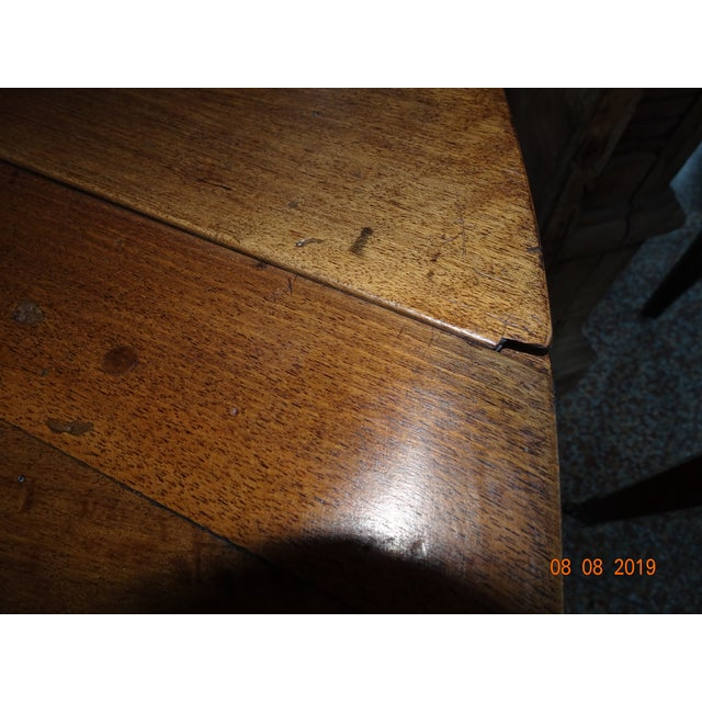 Walnut Epoch Directoire Dining Table For Sale - Image 9 of 12