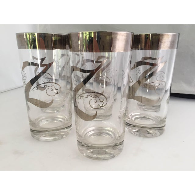 """Mid-Century """"Dorothy Thorpe"""" Z High Ball Glasses - Set of 8 For Sale In New York - Image 6 of 6"""
