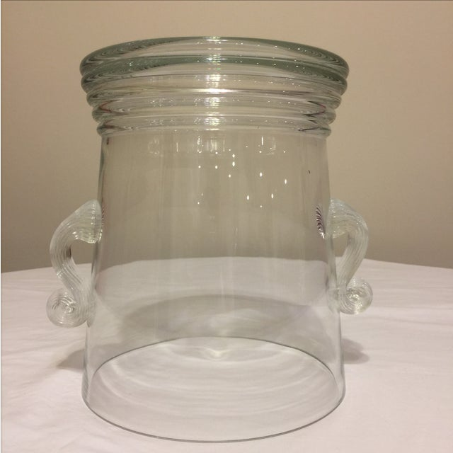 Glass Vase Round With Handles - Image 8 of 10