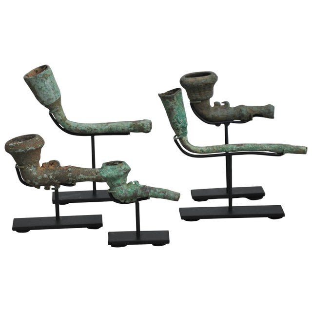 Bronze 16-17th Century Bronze Opium Pipe Heads Excavated From the Central Highlands For Sale - Image 8 of 8