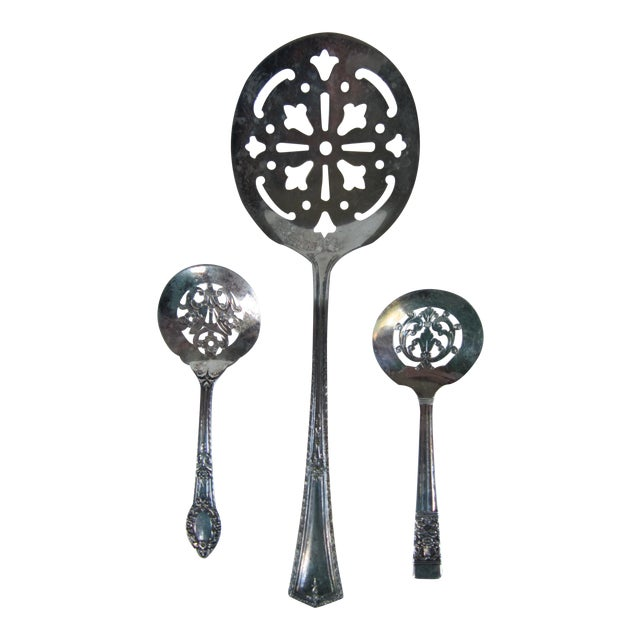 Silverplate Serving Spoons-3 Pieces - Image 1 of 5
