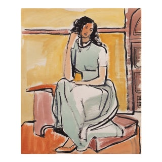 'Young Woman Seated' by Jerry Opper, Cincinnati Art Museum For Sale