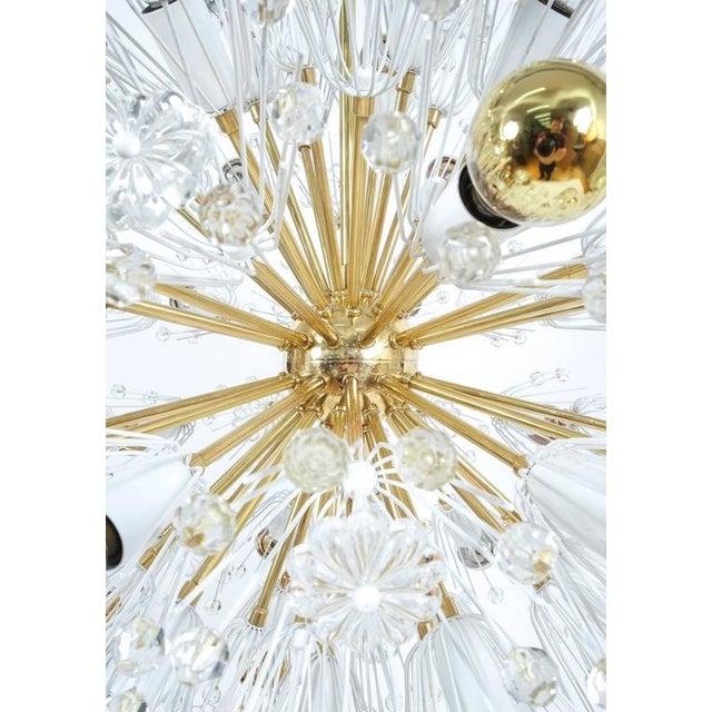 Rupert Nikoll Refurbished Pair Of Large Emil Stejnar Starburst Chandeliers Lamps For Sale - Image 4 of 9