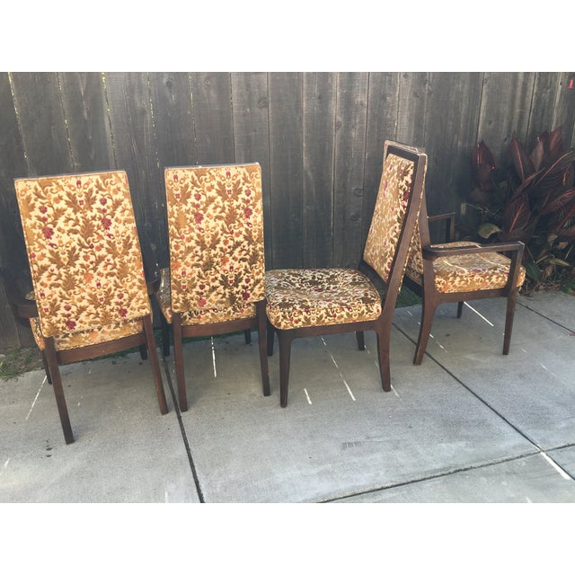 Wooden Frame Vintage Dining Chairs - Set of 4 - Image 4 of 8