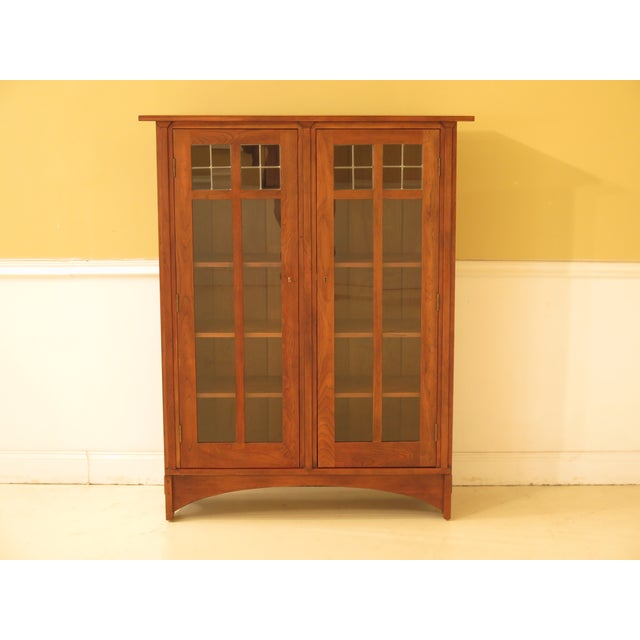1980s Arts & Crafts Stickley Cherry Bookcase For Sale - Image 13 of 13