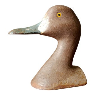 1950s Cast Iron Duck Doorstop For Sale