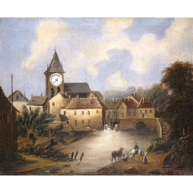 """French French Working """"Clock Painting"""" For Sale - Image 3 of 10"""