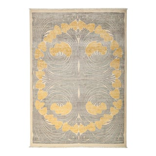 """Contemporary Hand Knotted Area Rug - 6'2"""" X 8'7"""" For Sale"""