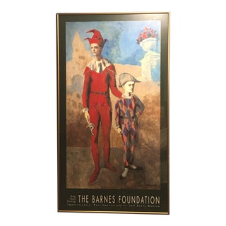 The Barnes Foundation Picasso Framed Exhibition Poster - Acrobat Harlequin
