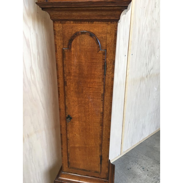 18th Century Longcase 8 Day Time & Strike Clock For Sale - Image 10 of 13